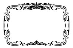 Elegant silhouette frame in art nouveau style Royalty Free Stock Photography