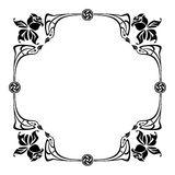Elegant silhouette frame in art nouveau style Stock Photography