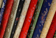 Elegant silk fabric stock photography