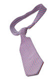 Elegant silk male tie (necktie) on white. Background Royalty Free Stock Images