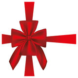 Elegant silk red ribbon and bow wrapping. Illustration Stock Image