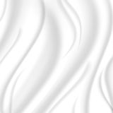 Elegant silk texture, white color with a silvery hue. Vector Stock Photography
