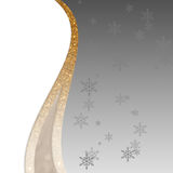 Elegant silver, golden and white background for Christmas or New Year. Elegant, glamour silver, golden and white background for Christmas or New Year with Royalty Free Stock Photos
