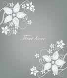 Elegant silver postcard Royalty Free Stock Photo