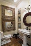 Elegant simple bathroom royalty free stock image