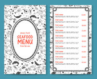 Elegant and simple seafood restaurant or cafe menu Stock Photo