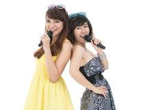 Elegant singers Stock Images
