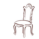 Elegant sketched chair. Royalty Free Stock Photography