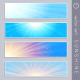 Elegant sky banners Royalty Free Stock Photography