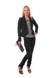 Elegant slender young woman Stock Photo