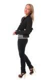 Elegant slender young woman Stock Image