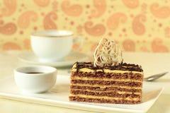 Elegant slice of cake Stock Images