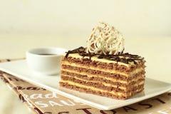 Elegant slice of cake Royalty Free Stock Image