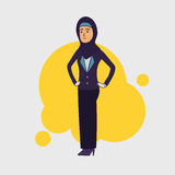 Elegant slim arabic muslim businesswoman. Arab female Royalty Free Stock Photography