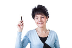 Elegant and smart middle-aged woman Royalty Free Stock Photo