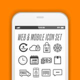 Elegant smartphone with icons, applications. Mobile phone realistic vector design. Eps10 Vector vector illustration