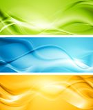 Elegant smooth waves vector banners Stock Photos