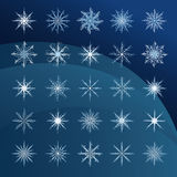 Elegant sneeuwvlokken complex patroon Royalty-vrije Stock Afbeelding