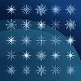 Elegant snowflakes complex pattern Royalty Free Stock Image