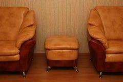 Elegant sofas. An interior of a living room Stock Photos