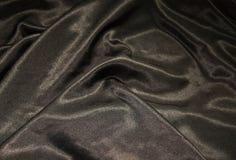 Elegant and soft black satin Royalty Free Stock Photography
