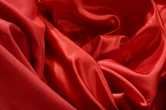 Elegant and soft red satin Royalty Free Stock Photography