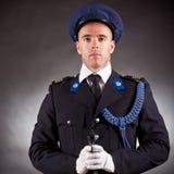 Elegant soldier shoot Royalty Free Stock Image