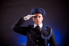 Elegant soldier wearing uniform Stock Photo