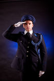 Elegant soldier Stock Images