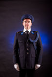 Elegant soldier wearing uniform Stock Photography
