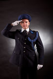 Elegant soldier wearing uniform Royalty Free Stock Images