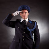 Elegant soldier wearing uniform Stock Image