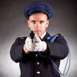 Elegant soldier wearing uniform Stock Image