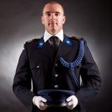 Elegant soldier wearing uniform Royalty Free Stock Photo