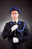 Elegant soldier wearing uniform Royalty Free Stock Photo