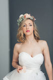 Elegant sophisticated young bride Stock Image