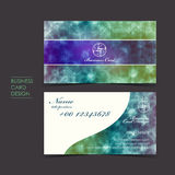 Elegant sparkle vector business card set. Template design Royalty Free Stock Images