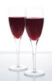 Elegant sparkling red wine. Served in Champagne flutes Stock Photos