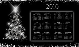 Elegant sparkly Calendar 2010. Elegant sparklly snowy calendar for the year 2010 Stock Illustration