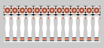 Elegant, spectacular and decorative border of Hindu and Arabic inspiration of various colors, white, black and orange with gray. Background a Stock Illustration