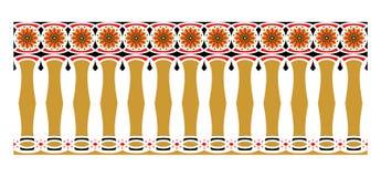 Elegant, spektakulär och dekorativ gräns av hinduisk och arabisk inspiration av olika färger, guld-, rött och svart Royaltyfri Foto
