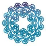 Elegant spets- vattenfärgdoily Virkningmandala Royaltyfri Bild