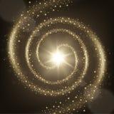Elegant spiral partikelslingabakgrund Arkivfoton