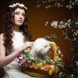 Elegant spring girl Stock Photos