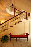 Elegant staircase. Details of an elegant central staircase at the George Eastman House, Rochester, New York (USA stock photography
