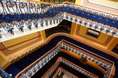 Elegant Staircase Grand Resort Bad Ragaz, Switzerland. Elegant staircase Hotel Quellenhof, Grand Resort Bad Ragaz royalty free stock photography