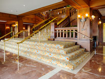 Elegant staircase. In an upscale hotel Royalty Free Stock Photos