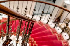 Elegant stairs closeup photo Royalty Free Stock Photography