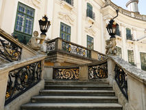 Elegant stairway in an luxurious baroque castle Stock Images