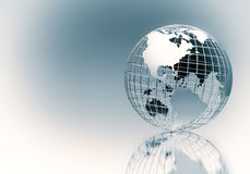 Elegant Steel Chrome Globe. Elegant and contemporary  looking metal steel chrome  globe. Great image to visualize globalization, worldwide or global  business in Stock Images